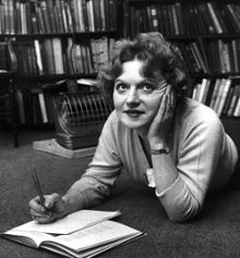"""Dame Muriel Spark (Edinburgh 1918 – Florence 2006) was born Muriel Sarah Camberg and brought up in the Bruntsfield area of Edinburgh. Her parents were Jewish, although her mother was raised as a Presbyterian. She taught English, was employed as a secretary in a Princes Street department store, and during World War II worked for MI6. It was not until the end of the war that she formally embarked on her literary career. Spark's first novel, The Comforters, was published in 1957, whilst her most well known work, The Prime of Miss Jean Brodie, followed four years later. She received numerous awards during her career. A review of her collected short stories in The Scotsman newspaper in 2001 described them as """"one of the greatest collections of short fiction in English."""" (Image courtesy of the London Evening Standard)"""