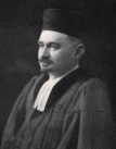 Rabbi Dr Salis Daiches (Vilnius, Lithuania 1880 – Edinburgh 1945) settled in England in 1907 having studied at Berlin University. He attended the Hildesheimer Seminary and subsequently graduated with a PhD from Leipzig University. After periods in Hull, Hammersmith and Sunderland, Daiches received a call to become rabbi to the Edinburgh Hebrew Congregation in 1918. For the remainder of his life he worked to improve relations between Jews and Christians in Scotland. He attained a high profile in Scottish society through his oratory and many letters and articles he wrote for the Scottish press. Daiches was a prominent Freemason, and was heavily involved in the activities of the Edinburgh Zionist Association. During the 1920s he challenged Christian missions targeting Jews in Edinburgh and defended shechita (ritual slaughter of animals according to Jewish dietary laws). After 1933 and until his death, Daiches was instrumental in assisting Jewish refugees in Scotland and Jewish soldiers stationed around the city, and engaged in fighting domestic Fascism. (Image courtesy of the Scottish Jewish Archives Centre.)