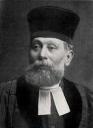 Rev. Jacob Fürst (Courland, Latvia 1844 – Edinburgh 1918) came from Middlesborough in 1879. He served Edinburgh's Jews for forty years bringing continuity and stability to the community. He is also noted for his challenging of prejudice, a legacy which was continued by Rabbi Dr Salis Daiches. Based at the Park Place Synagogue until the shul in the converted church in Graham Street was consecrated in 1898, Fürst preached at the synagogues catering for the Dalry community as well as at the synagogues of the New Edinburgh Hebrew Congregation on Roxburgh Place and North Richmond Street. Fürst, with Miss Salmon, directed the first recorded Hebrew School in Edinburgh in 1880. (Image courtesy of the Scottish Jewish Archives Centre.)