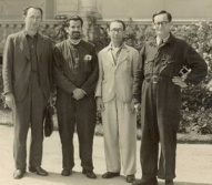 Hans Gál in the internment camp, middle. Image credit: Courtesy of The Hans Gál Society