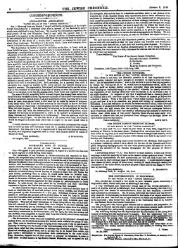 """""""The Conversionists in Edinburgh"""" - letter by J.Furst printed in Jewish Chronicle; (Jewish Chronicle, 6/08/1886)"""