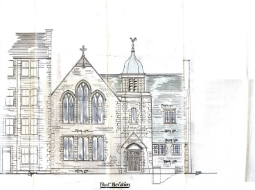 Design drawing of a mission house at Caledonian Crescent [1898] (Image courtesy of Edinburgh City Archives.)