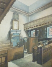 Interior of the synagogue at Park Place (Image courtesy of the Scottish Jewish Archives Centre.)