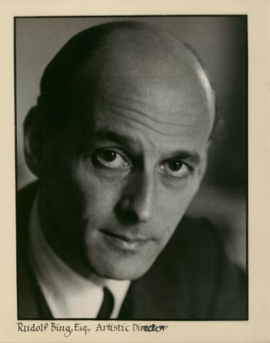 """Sir Rudolf Bing (Vienna 1902 – New York 1997) originated the Edinburgh Festival with composer Hans Gál in 1947 as a way of bringing harmony through music to a Europe shattered by war, and to enable a """"flowering of the human spirit."""" He was a conductor in Germany, and helped to found the Glyndebourne Festival Opera, before moving to Edinburgh. He ended his career as General Manager of the Metropolitan Opera House New York. credit: Edinburgh Festival Society"""