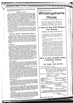 "Press advert titled ""Whittingehame House"" (Image courtesy of the Scottish Jewish Archives Centre.)"