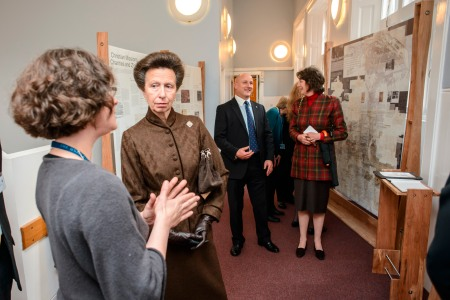 EDINBURGH, UK - 8th October 2013: HRH the Princess Royal visits the University of Edinburgh's School of Divinity at New College, Mound Place. (Photograph: MAVERICK PHOTO AGENCY)